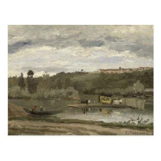 Balsa em Varenne-Santo-Hilário, 1864 Cartão Postal