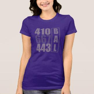 BALTIMORE 410 T do código de área 443 667 Camiseta