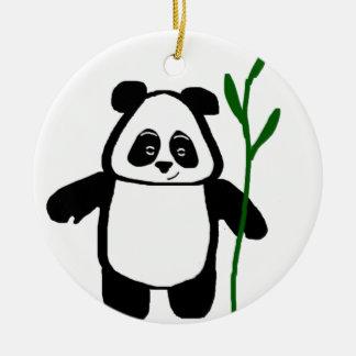 Bambu o ornamento redondo da panda