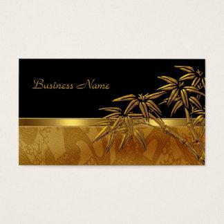 Bambu preto asiático do ouro do cartão de visita