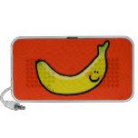 Banana amarela engraçada caixinhas de som para laptop