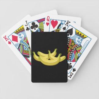 Banana da comida do pulso aleatório cartas de baralho