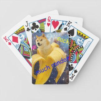 banana   - doge - shibe - espaço - uau doge baralhos de poker