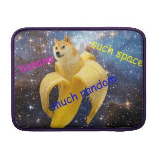 banana   - doge - shibe - espaço - uau doge bolsa de MacBook