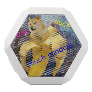 banana   - doge - shibe - espaço - uau doge caixa de som branca com bluetooth