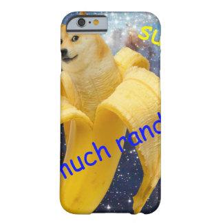 banana   - doge - shibe - espaço - uau doge capa barely there para iPhone 6