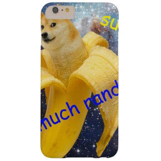 banana   - doge - shibe - espaço - uau doge capa barely there para iPhone 6 plus