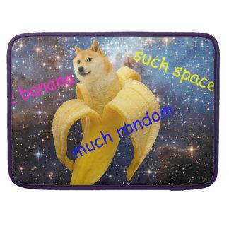banana   - doge - shibe - espaço - uau doge capa MacBook pro