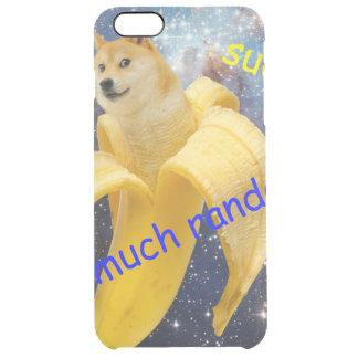 banana   - doge - shibe - espaço - uau doge capa para iPhone 6 plus transparente