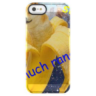 banana   - doge - shibe - espaço - uau doge capa para iPhone SE/5/5s transparente