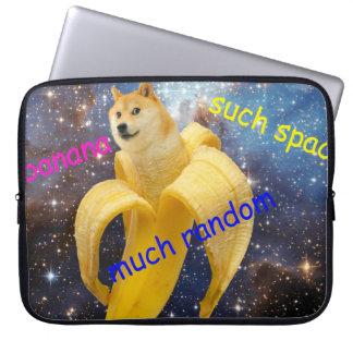 banana   - doge - shibe - espaço - uau doge capa para notebook