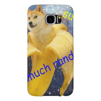 banana   - doge - shibe - espaço - uau doge capa para samsung galaxy s6