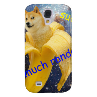 banana   - doge - shibe - espaço - uau doge capas personalizadas samsung galaxy s4