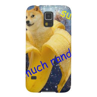 banana   - doge - shibe - espaço - uau doge capinha galaxy s5