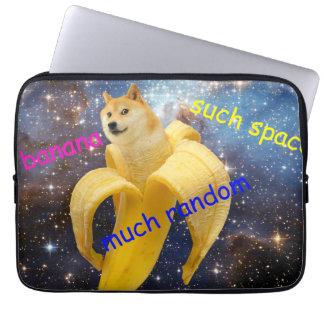 banana   - doge - shibe - espaço - uau doge sleeve para notebook