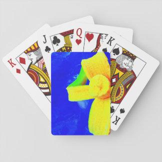 Banana em cartões de jogo azuis jogo de carta
