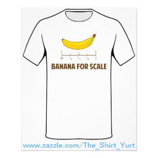 Banana para a escala flyer 11.43 x 14.22cm