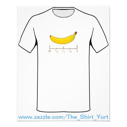 Banana para a escala modelo de panfletos