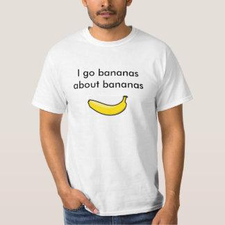 bananas sobre bananas camiseta