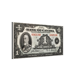 Banco de Canadá um impressão das canvas do dólar