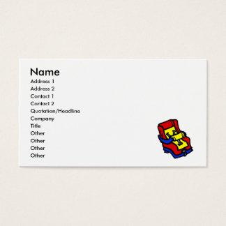 Banco de carro cartão de visitas