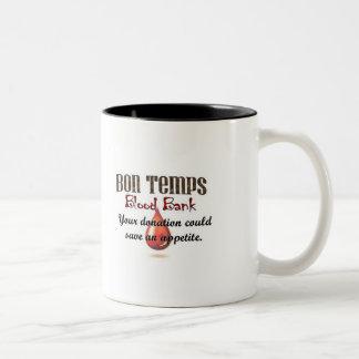 Banco de sangue dos Temps do Bon Caneca De Café Em Dois Tons