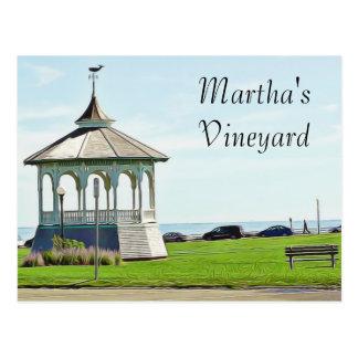 Banco do oceano do Martha's Vineyard e cartão do