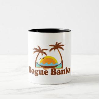 Bancos da boga caneca de café em dois tons