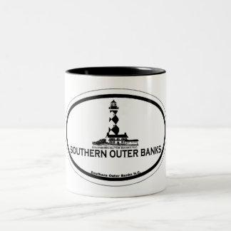 Bancos exteriores do sul caneca de café em dois tons