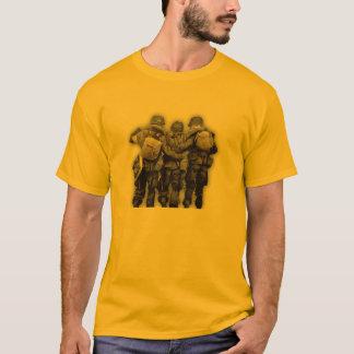 Banda da guerra mundial 2 da camisa do paramilitar