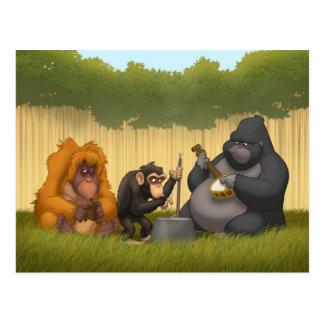 Banda de jarro do cartão dos macacos