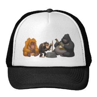 Banda de jarro do chapéu dos macacos boné