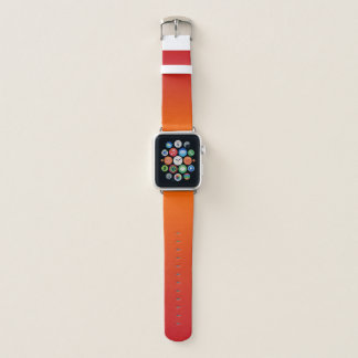 Banda de relógio alaranjada de Ombre Apple
