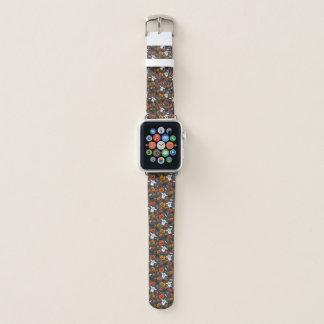 Banda de relógio assustador de Apple do couro do