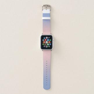 Banda de relógio azul de Ombre Apple do rosa