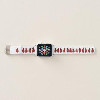 Banda de relógio cardinal vermelha de Apple dos