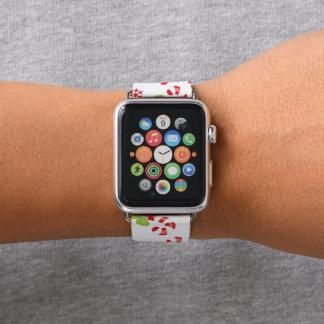 Banda de relógio da maçã do teste padrão do bastão