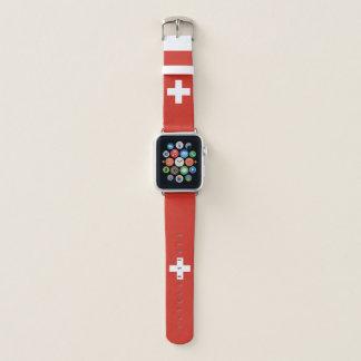 Banda de relógio de Apple da bandeira da suiça