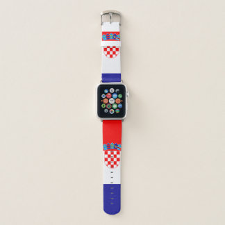 Banda de relógio de Apple da bandeira de Croatia