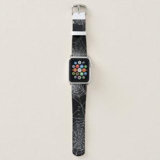 Banda de relógio de Apple da Web de aranha do Dia
