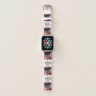 Banda de relógio de Apple do salvamento do Pug do