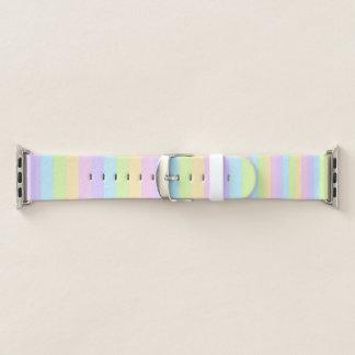 Banda de relógio listrada Pastel colorida de Apple