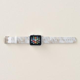 Banda de relógio marmoreada ouro de Apple do olhar