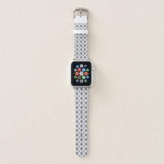 Banda de relógio preto e branco de Apple do teste
