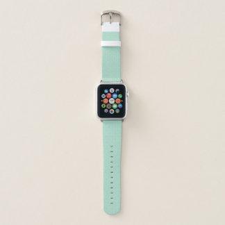 Banda de relógio verde de Apple do teste padrão do