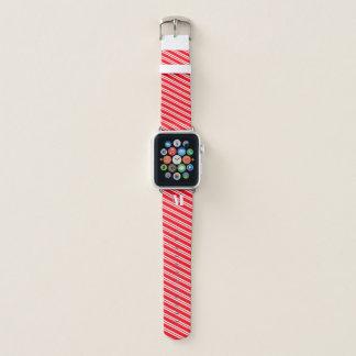Banda de relógio vermelha Monogrammed de Apple da