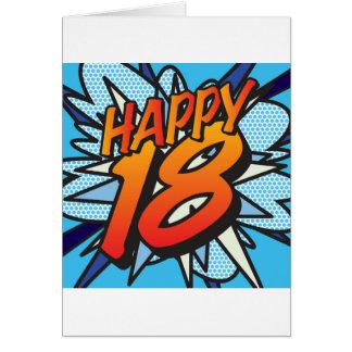 Banda desenhada 18 FELIZES! Cartão Comemorativo