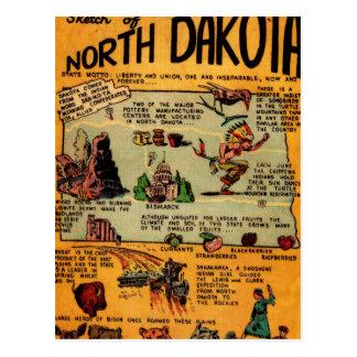 Banda desenhada de North Dakota Cartoes Postais