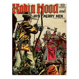 Banda desenhada de Robin Hood Cartoes Postais