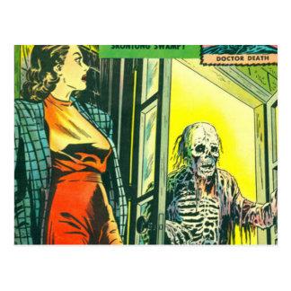 Banda desenhada do Dia das Bruxas do vintage Cartão Postal